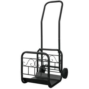 44.7 Inch Large Log Rack with Wheels And Removable Cart