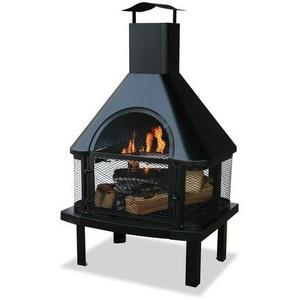 "Uniflame - 45"" Outdoor Fireplace with Chimney"
