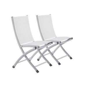 Bachelor Aluminum Folding Sling Chair - Set Of 2