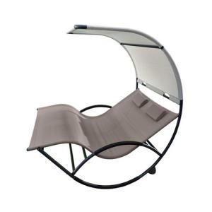 Double Chaise Rocker - Aluminum
