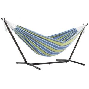 Viveres Combo - Double Hammock with Black Stand